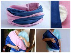 4f6af1814530a7 Breastfeeding cover, infinity nursing scarf, szal do karmienia piersią,  komin, chusta