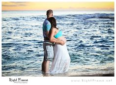 www.rightframe.net – Oahu maternity photography at Secret Beach, Ko'Olina. Hawaii, Honolulu, family, photography, beach, portrait, portraits, ideas, idea, waikiki, hawaiian, couple, photo, pictures, photos, pose, poses, posing, session, bellows, pregnancy, Belly Bump, blue, ocean, water, ko olina, koolina, sunset.