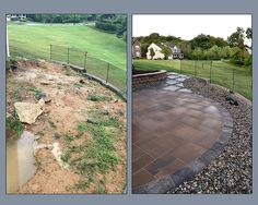 www.SharperCut.com - Before and After of Ft. Washington Patio