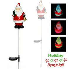 Outdoor:  Encore H5172 Solar Powered Color Changing Christmas Santa Garden Stake Encore,http://www.amazon.com/dp/B00485N3Y8/ref=cm_sw_r_pi_dp_rhoOsb12JS41DXK5