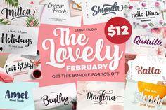The Lovely February Bundle #bundle #script #font #creative #debutstudio #brush #february #lovely #wedding #girly
