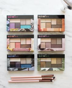 Are the new Maybelline The City Mini Palettes must-haves? Check out swatches of all six palettes and hear which ones you should pick up or skip. | Slashed Beauty