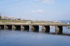 4月5日晴れ今日はさくら88景の写真撮りに追われていました。撮影場所 沈み橋