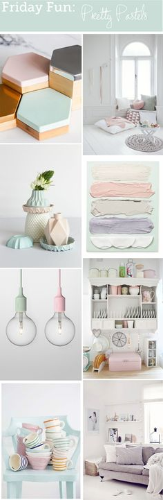 Friday Fun: Pretty Pastels color palette - bungalowsandolives.com