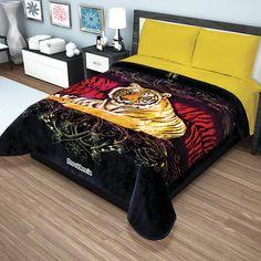 Cobertor Ligero Tigre Pasión Raschel Excel