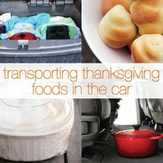 """8 Tips For Making Thanksgiving Food Travel Friendly. I have a Thanksgiving """"spill"""" in every car I've owned! Potluck Recipes, Real Food Recipes, Potluck Food, Travel Snacks, Food Travel, Thanksgiving Celebration, Thanksgiving Menu, Good Food, Yummy Food"""
