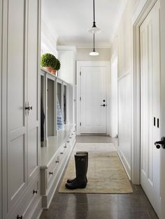 A hall runner is a great way to add simple style to your mud room // mud room