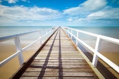 Shop White pier on the ocean coast panel wall art created by Awesome_Nature. Personalize it with photos & text or purchase as is! Menorca, Beach Pictures, Pictures Images, Free Images, Hd Images, Blog Images, Free Photos, Photos Black And White, Villas