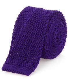 Nick Bronson - Purple Silk Knitted Tie http://www.liberty.co.uk/fcp/categorylist/designer/nick-bronson