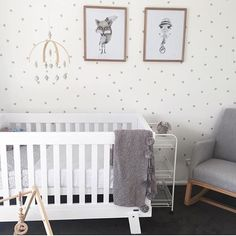 Neutral nursery inspiration featuring the Urbane by Boori Lucia Convertible Plus Cot Bed.