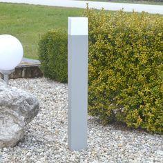 SUTTER / Aussen Sockelleuchte / 70 cm / silberfarben / Stehleuchte Aussenlampe in Garten & Terrasse, Beleuchtung, Elektro | eBay