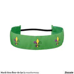 Mardi Gras fleur-de-lys Athletic Headbands