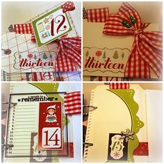 With this paper & numbers I made my December album from 2010. I must say it has become a lovely album. This year I make one with paper from Bo Bunny