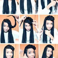 how to style box braids into a bun