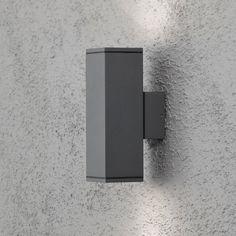LED Wandleuchte DOM Außenleuchte, 2-Flammig, Aluminium, Anthrazit, GU10-230V, (Form:A5)