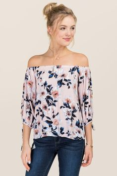 Giselle Floral Off The Shoulder Top