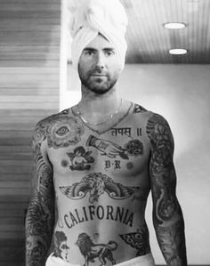 Ideas Tattoo Ideas For Guys Music Adam Levine Leg Tattoo Men, Boy Tattoos, Music Tattoos, Feather Tattoos, Trendy Tattoos, Body Art Tattoos, Sleeve Tattoos, Tattoos For Guys, Cool Guy Tattoos
