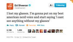 love his tweets