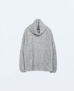 Image 6 of HIGH-NECK, CABLE KNIT SWEATER from Zara