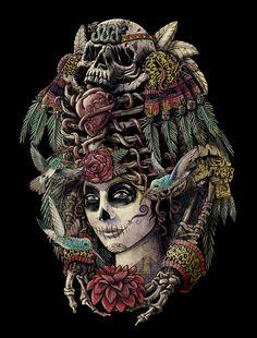 Il·lustració d' Elena Catalán    Sembla que l'art va més enllà de la vida representant la mort . Tenim com a exemples ben representatius...