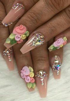 Funky Nail Art, Funky Nails, Glam Nails, Hot Nails, Nail Manicure, Hair And Nails, Stiletto Nails, Beautiful Nail Designs, Beautiful Nail Art