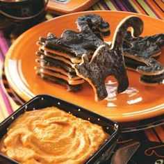 Black Cat Dippers with Pumpkin Pie Dip