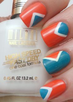 #nails #nailart #manicure Adventures In Acetone: Milani Fashion Nail Trend Manis
