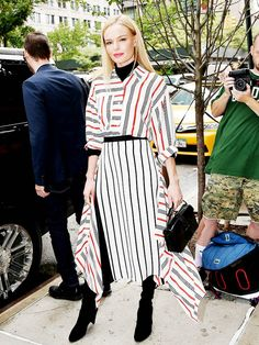 Kate Bosworth Mixes Stripes for Fall