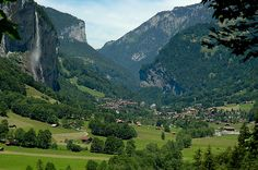 Lauterbrunne Switzerland. The most peaceful place on earth @Robert Dixon, I wanna go back, lets go back! beyond amazing