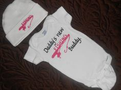 Unique, 100% Cotton, bottom snaps Baby bodysuit with cute quote Daddys New Fishing Buddy and beanie with fishing pole are the perfect gift for your