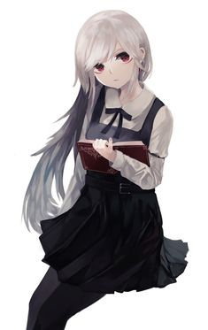Anime Neko, Kawaii Anime Girl, Kawaii Art, Manga Anime, Anime Art, Anime Girls, Dark Souls, White Hair, Art Girl