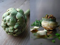 eat in my kitchen ° Stuffed Maltese Artichokes with Meat infused with Brandy, Bay Leaf and Cumin