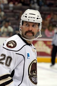 11.02.13 - Hershey Bears player, Jeff Taffe, showing off his #Movember mustache.  Photo courtesy of JustSports Photography