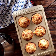 Muffins Salados con Queso y Jamón Crudo en la licuadora, bien fáciles y rápidos!!