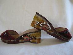 Vintage World War II Era Wooden Carved Japanese Shoes on Etsy, $54.00