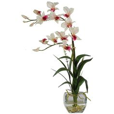 108 best artificial flowers in acrylic water images on pinterest the white dendrobium silk flower arrangement in acrylic water can add character to that table and mightylinksfo