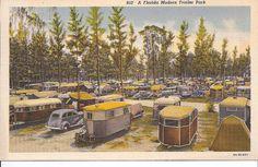 Old Trailer Park Pictures | Flickriver: Photoset 'Vintage Trailer Park postcards' by gtykal