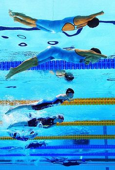 Grace: paralympic swimmers compete against athletes with similar levels of function - though their disabilities may be very different. In consequence a single event in the pool may see a diverse array of swimming techniques specific to each athlete  Picture: GETTY IMAGES