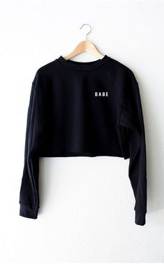 Babe Cropped Sweater - Black from NYCT