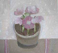 Small pot of flowers by JIll, gorgeous. Raspberry Color, Colour Board, Dusty Rose, Mauve, Still Life, Purple, Pink, Bowls, Planter Pots