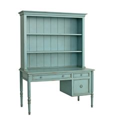 Image of Isabella Writing Desk w/ Hutch in Robin's Egg Blue design by Redford… Painting Wooden Furniture, Shelf Furniture, Home Furniture, Business Furniture, Coastal Furniture, Outdoor Furniture, Furniture Projects, Rustic Furniture, Office Furniture