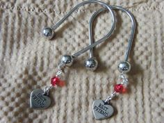 2, Silver Horseshoe Keychains, Best Friend Heart Charms & Red Crystals! Key Chains, BFF Gift, Best Friend Gift, Thank You Gift, Gift Set by DaKsJewelry on Etsy