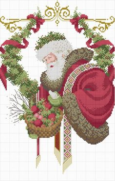 Father Christmas cross stitch. Gallery.ru / Фото #1 - 24 - elypetrova