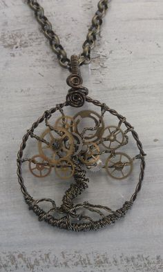 "Etsy Steampunk Tree of Time (Life). From the Etsy store of Jacqueline Burnette here. If you follow or read my blog you will know that I love wire crafts and post lots of them. Look for the tag wire"" i.e. http://truebluemeandyou.tumblr.com/tagged/wire (thats why I have so many tags - so I can find what I post!)."