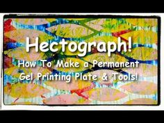 ▶ Make_a_permanent_gelatin_plate_AKA_hectograph - YouTube  Ingredients: plain gelatin, glycerin, water in a plastic box frame. There is a STEAM connection: you are making a plastic.