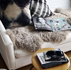 Say yes to fur on the couch