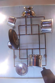 detailed directions for cutting and soldering a copper pot rack