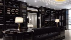 Prestigeous Walk-in Closet. Clean lines with an inclusion of Art Deco elements…