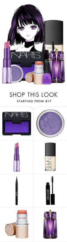 """Sailor Saturn Make Up!"" by pearl2ne1cookie ❤ liked on Polyvore featuring beauty, NARS Cosmetics, Urban Decay, Stila, Lord & Berry, Jane Iredale and Thierry Mugler"