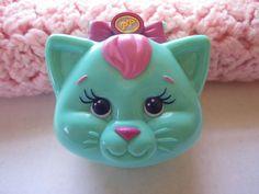 Polly Pocket Bluebird Bedtime 1993 Kitty Cat Case Doll Flocked Kitten Snowflake #DollswithClothingAccessories